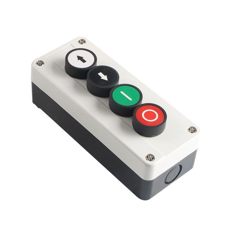 XAL series waterproof 4 position spring return push button switch control station box