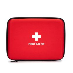 First Aid Hard Case Empty Shell Case EVA Red Medical Bag for Home Health First Emergency First Responder Camping Outdoors