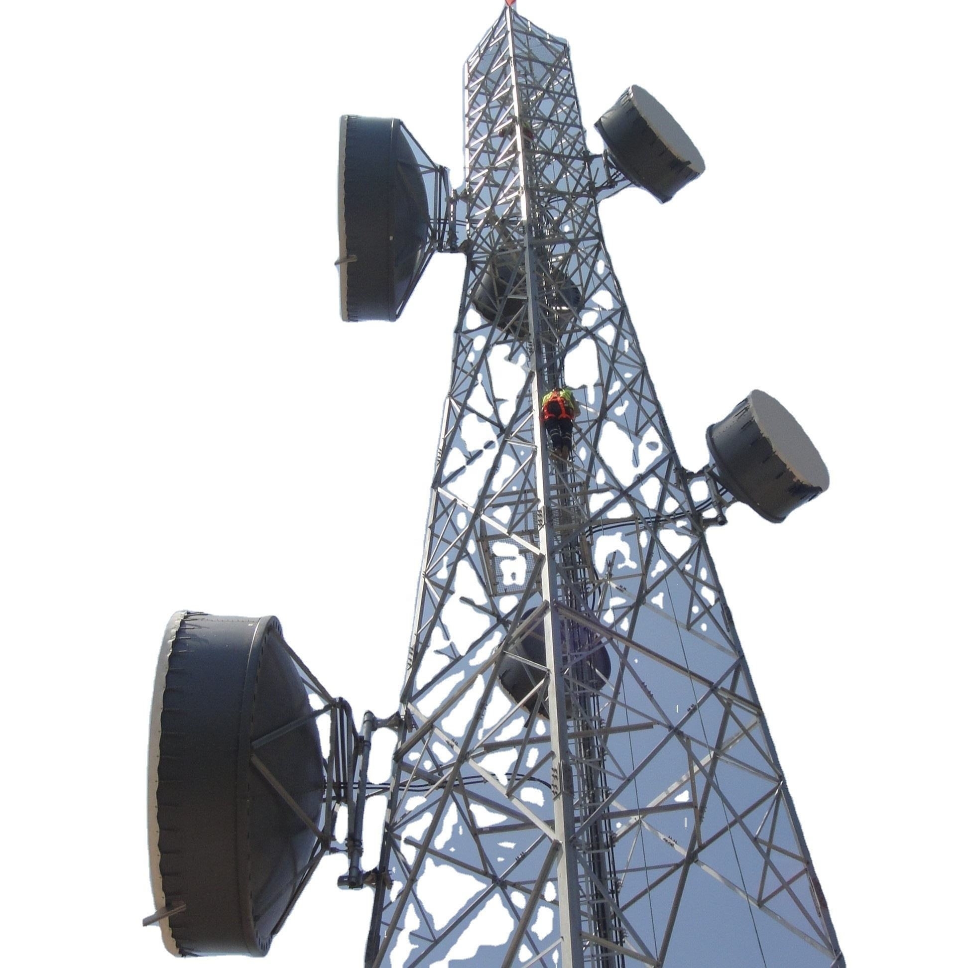 4legs 4 Four Leg Legs Legged Telecom Telecommunication Communication Angular Steel Self Supporting Lattice Tower