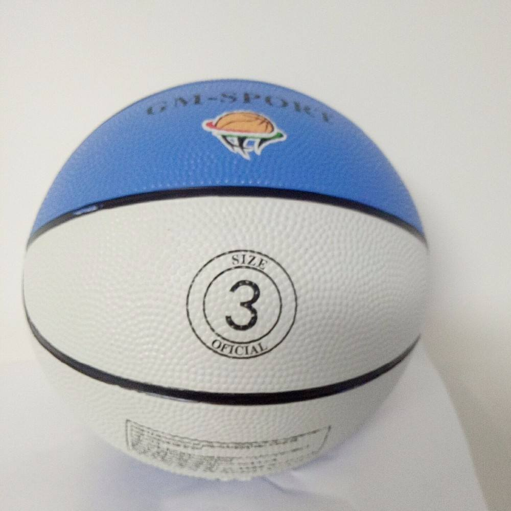 Wholesale size 3 can be custom your own logo Mini Rubber Basketball