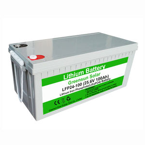 BMS Deep Cycle Lifepo4 24v 200ah Lithium Ion Battery 25.6v 100ah Storage Energy System