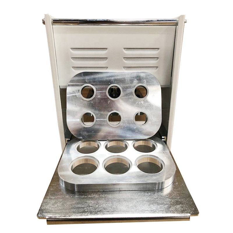 Manual 6 Cavity Nespresso Coffee Capsule Sealer Aluminum Foil Machinery for K Cup Packing