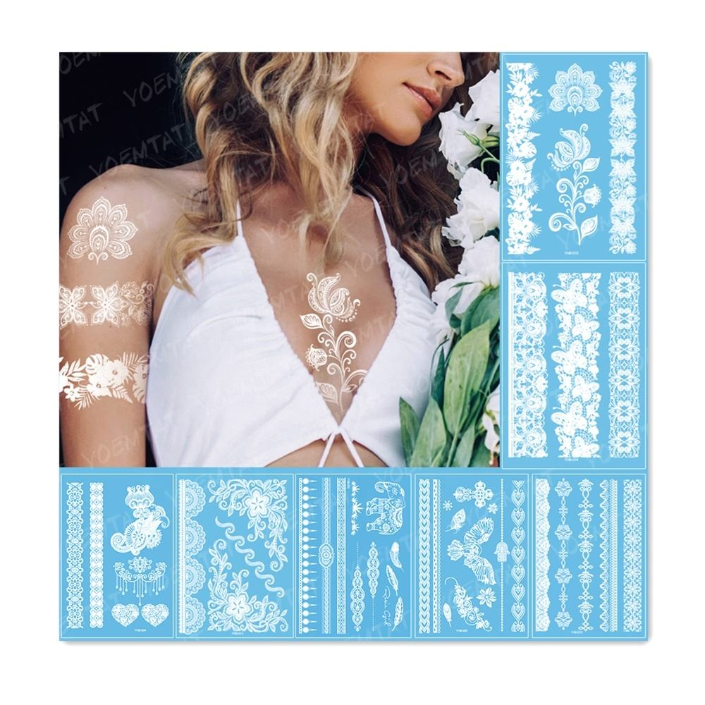 Indian Arabic Lace Flash Wedding Temporary wasserdichte Tatoo Sticker