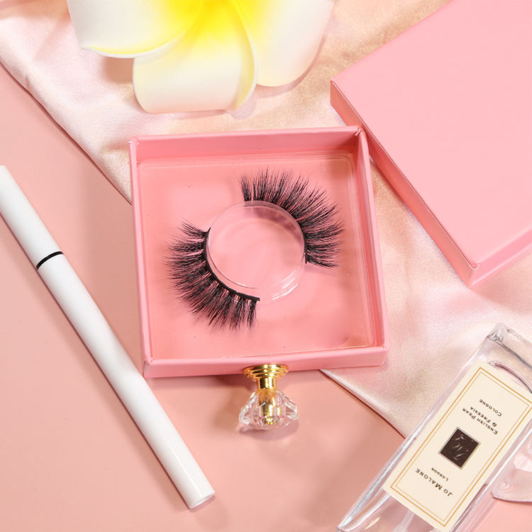 High quality new private label 3D silk lashes false eyelashes faux mink silk eyelash