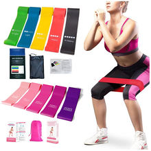 Exercise Gym Tools Strength Fitness Mini Loop Bands Set Yoga Workout Elastic Band Resistance Training Custom Logo