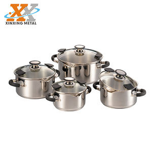 New Item Stainless Steel Cookware Set Large Noodle Cooking Pot Set Pasta Pots