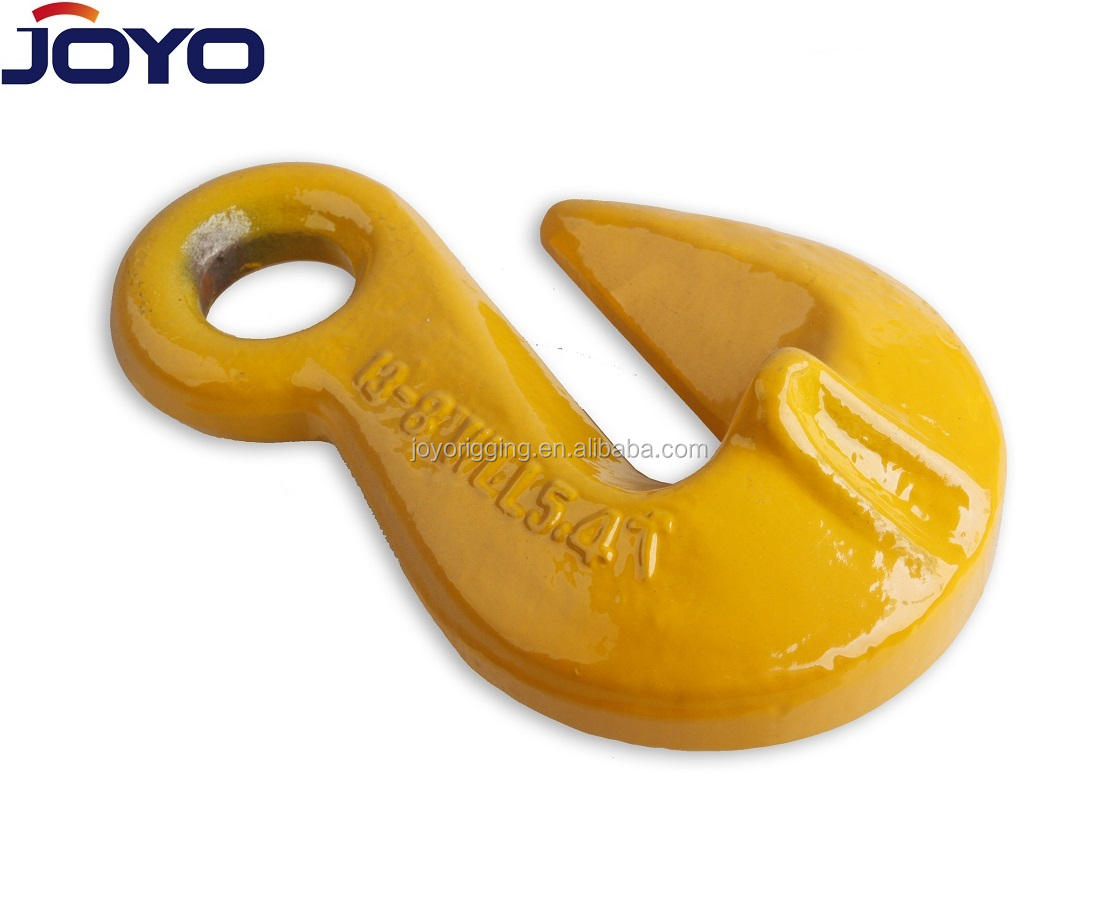 G80 High Quality rigging of Drop Forged Alloy steel Chain shortening Lifting eye grab hook with wing