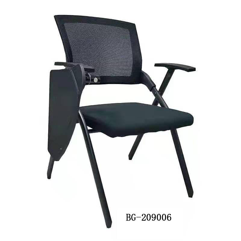 Foldable Training Room Chairs School Chairs With Writing Pad Stackable Mesh Training Chair