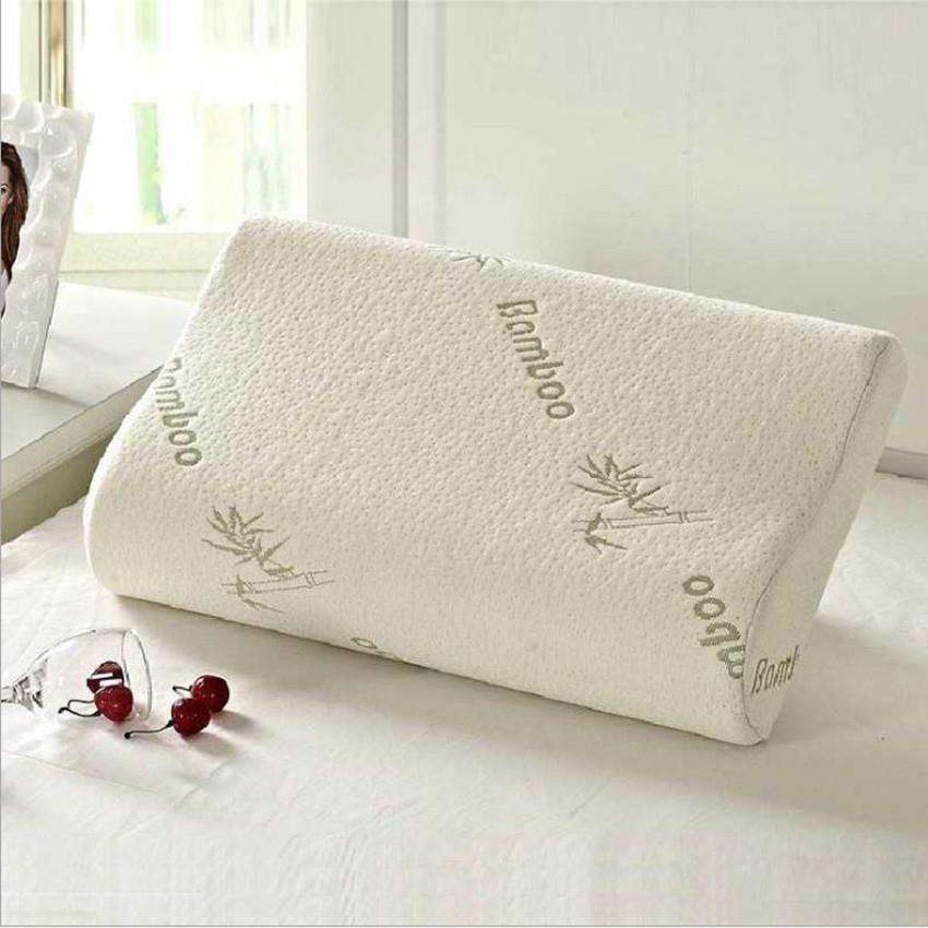 Bamboo Fabric Fiber Foam Neck Contour Orthopedic Cervical Sleep Memory Foam Pillow