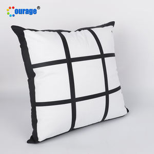 cheap price polyester 9 panel pillow sublimation custom printed pillow cases