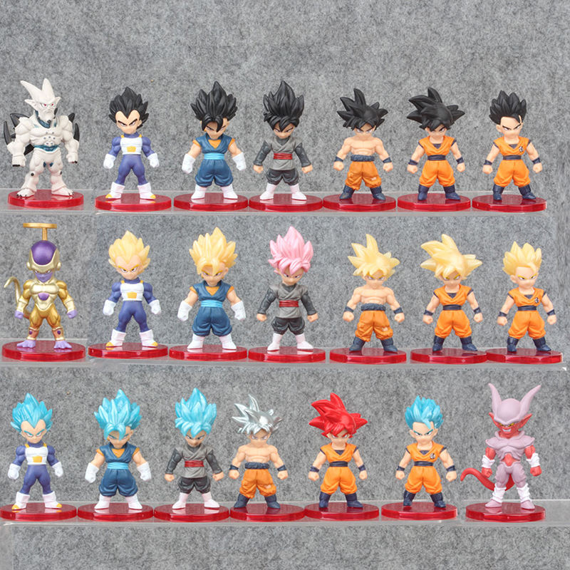 "Dragon Ball Z 3"" Figures - 21pcs Super Stars Goku Dragon Toys Action Figures Cake Toppers Set - Dragon Ball Toy Collection Gift"