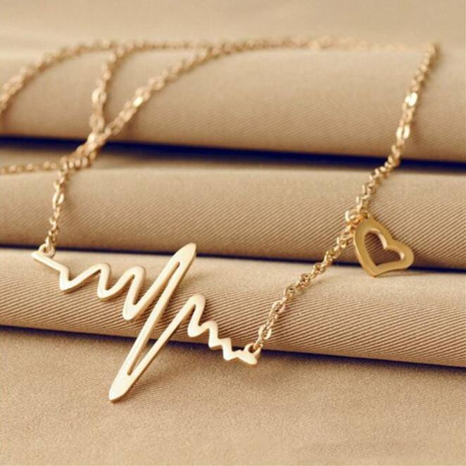 Go Party Hot alloy plated fashion jewelry 2020 necklaces ecg pendant necklace
