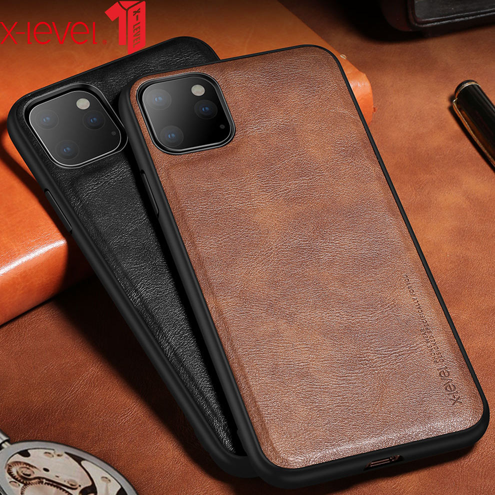 X-Level new arrivals PU leather cell phone case for iPhone 11 pro max back cover for iphone 11 case