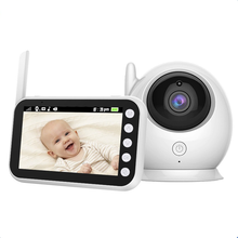 AHSX amazon top seller's supplier 4.5 inch hd720p wireless audio video mini smart 1080p baby monitor camera