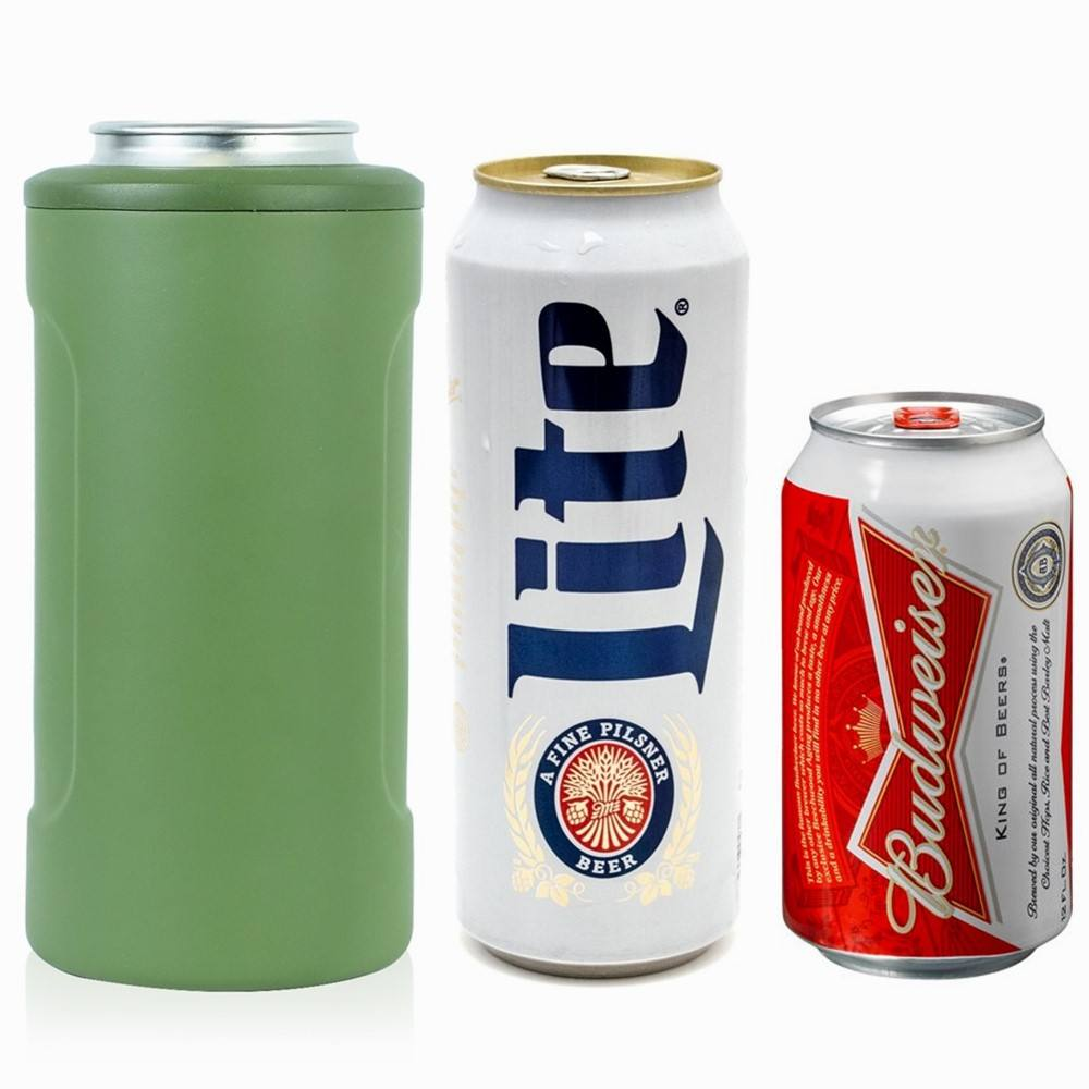 Metal Insulated 12oz Stainless Steel Beer Can Cooler Holder Insulator