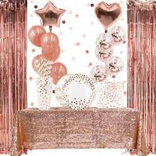 Rose Gold Party Decorations Set 85 Piece Party Supplies for Wedding Bridal