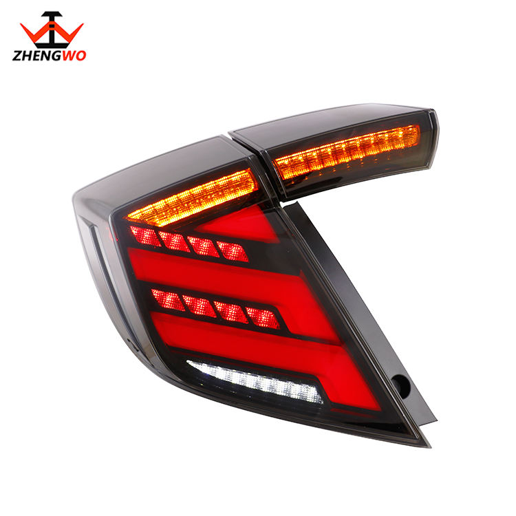 2020 car auto parts LED tail lamp for Hondas Civics Hatchback dynamic brake and reverse