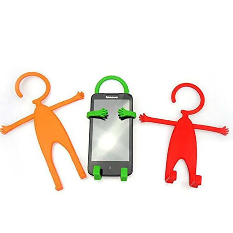 Multifunction Human Shape Cellphone Flexible Hook Silicone CellPhone Holder