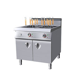 Commercial free-standing electric noodle cooker (6 heads) with cabinet