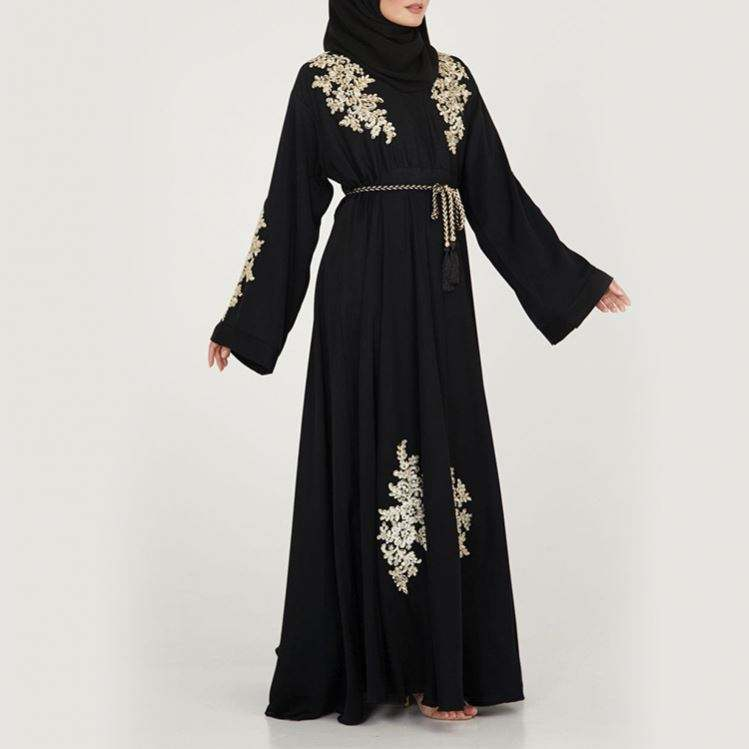 2019 Fashionable Robe Muslim Daily Design Women Jubah Designs Dubai For Black Abaya