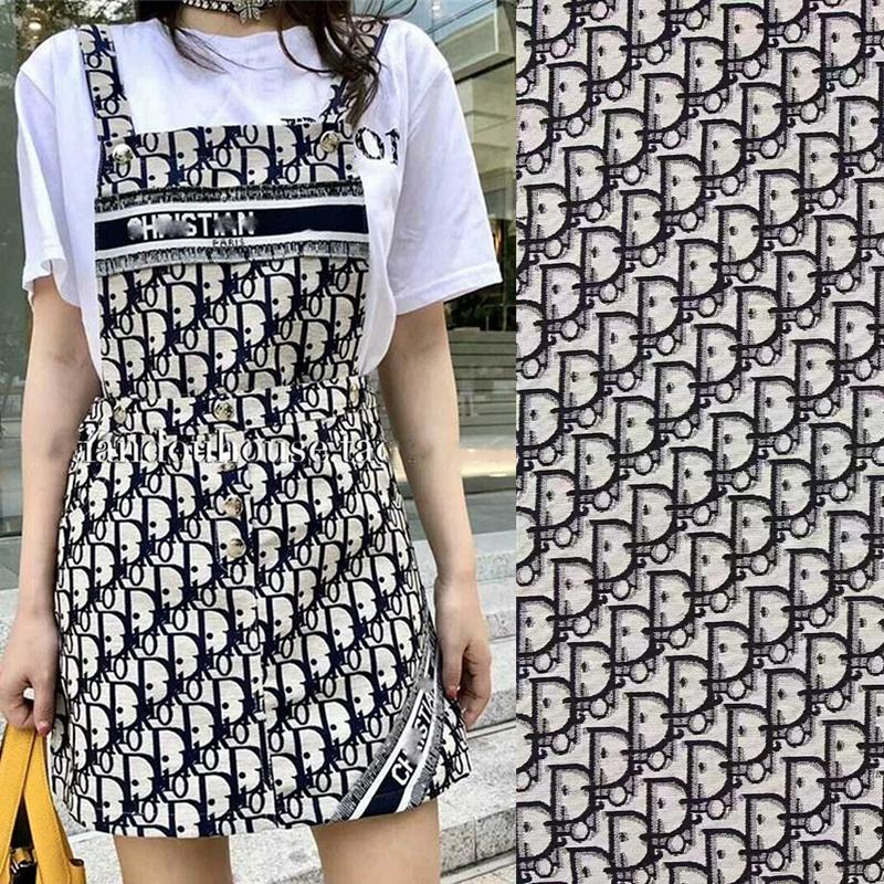Customized color and design made dobby jacquard garment dress fabric