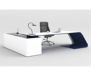 2019 Latest desktop surface painting modern ceo table manager table unique shape luxury executive office desk
