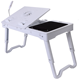 Multifunctional Aluminum Foldable Laptop Table with cooling pad laptop Desk