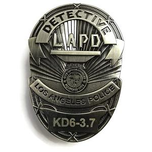 Wholesale Custom Metal Badge Detective Lapo Los Angeles Police Metal Badge For Sale