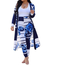 Casual Clothing Classy Plus Size Clothing Print Pants and Long Coat