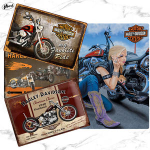 Popular old fashion style metal signs 20*30 CM large vintage motor tin signs Harley -Davidson knucklehead motorcycle tin sign