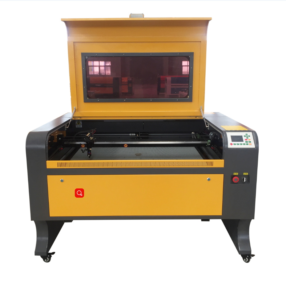 VOIERN 1080 Plywood/acrylic/leather/PVC/fabric/rubber co2 laser cutting engraving machine with low price Ruida 1000*800mm
