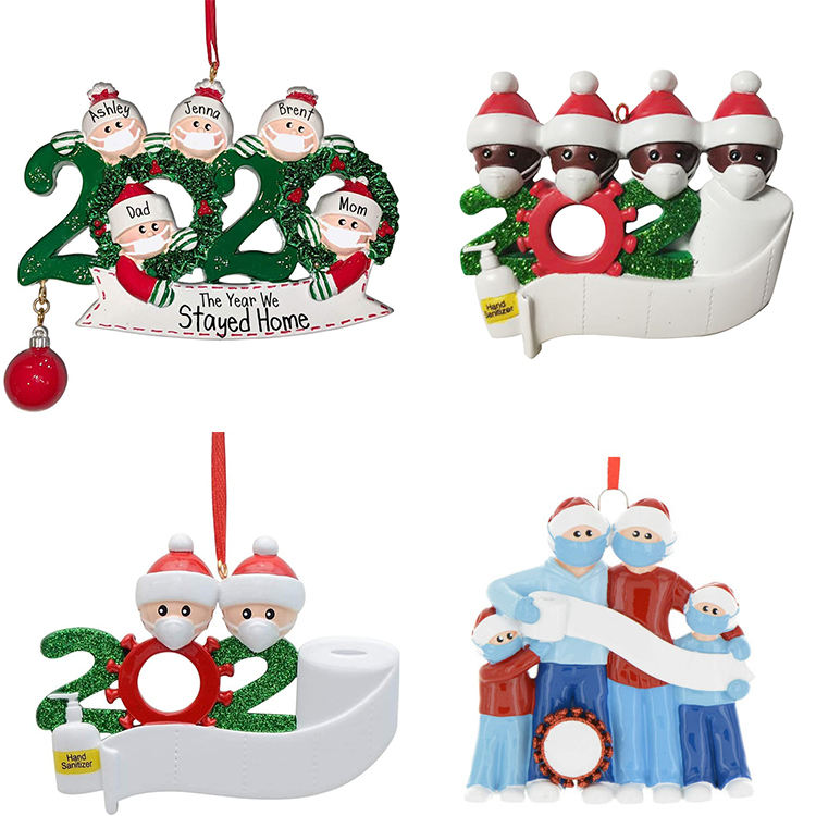 DIY In Bulk Supplies 2020 Personalized Hanging Tree Decoration Handmade Christmas Ornaments