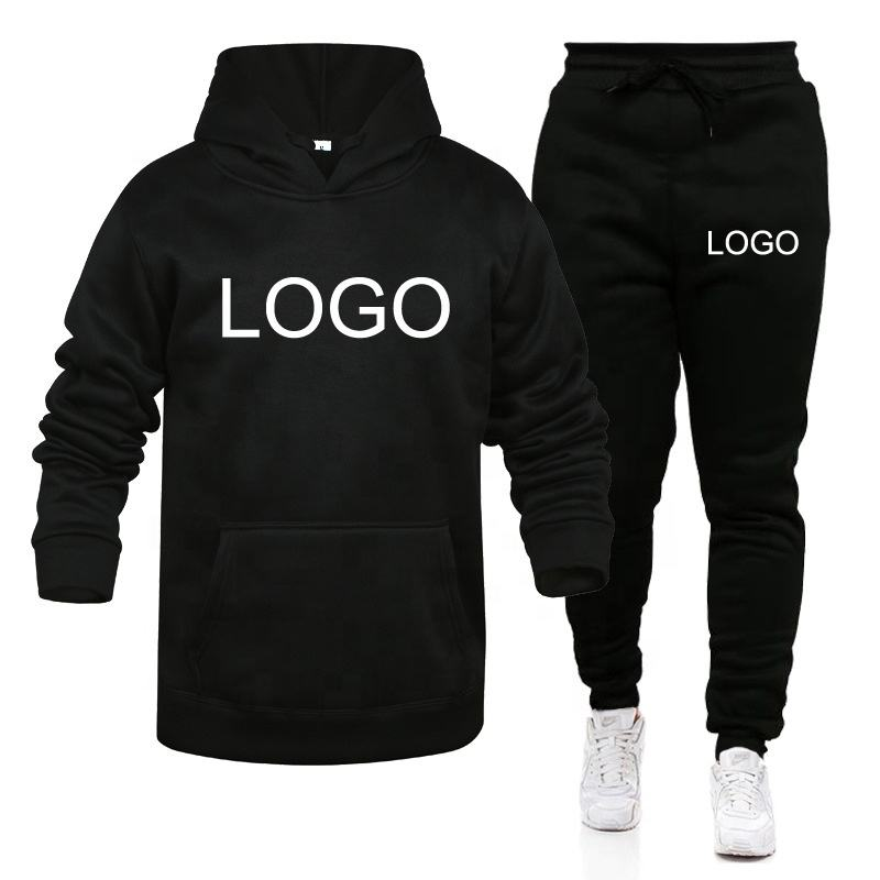 Size S-XXXL Wholesale Unisex Hoodies Set Logo Custom Private Label Fashion Pullover Hoodie