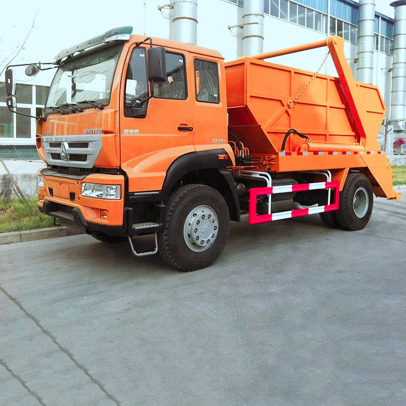 10-15 CBM Heavy Duty HOWO Skip Loader Refuse Truck Swing Arm Garbage Collection Truck