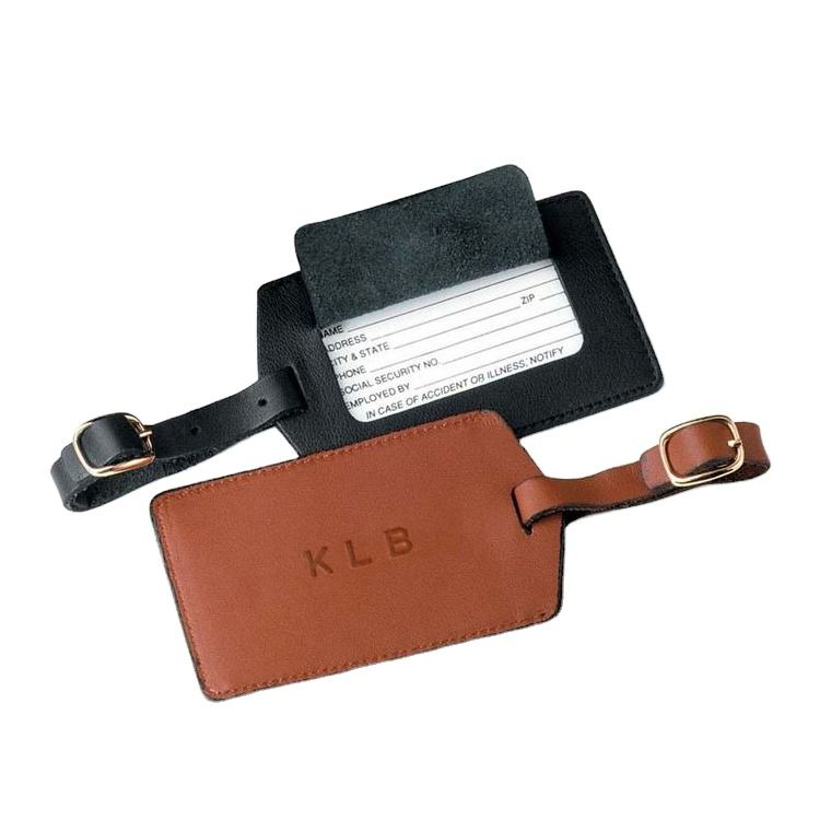 Factory Custom PU Leather Luggage Tag with High Quality