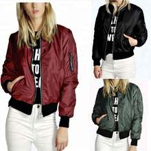 Wholesale Plain Thin Zipper Women Bomber Jacket fashion Women