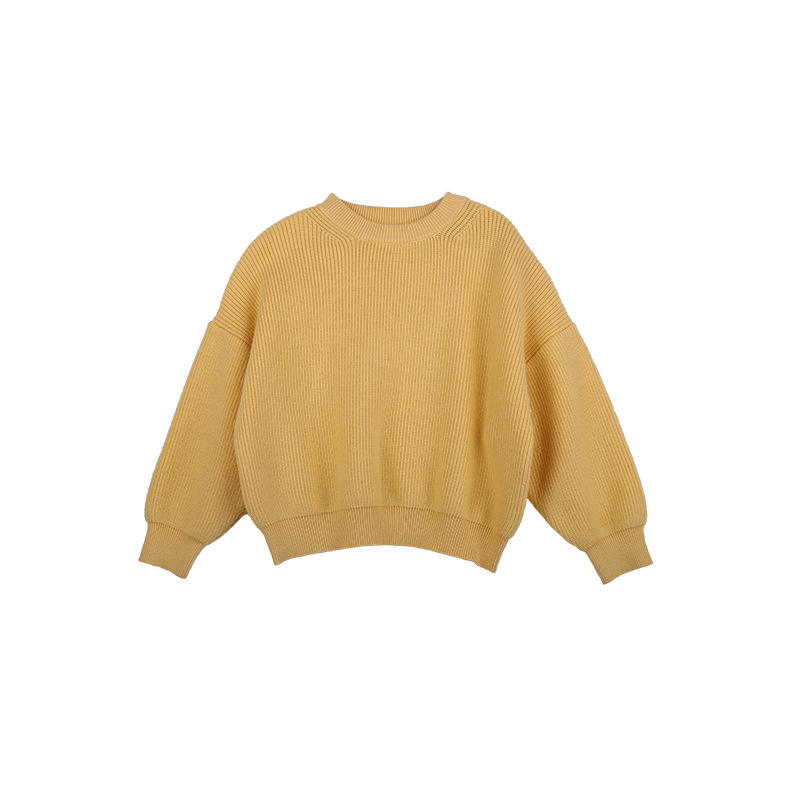 high quality 2020 winter solid color knit girls baby sweater design