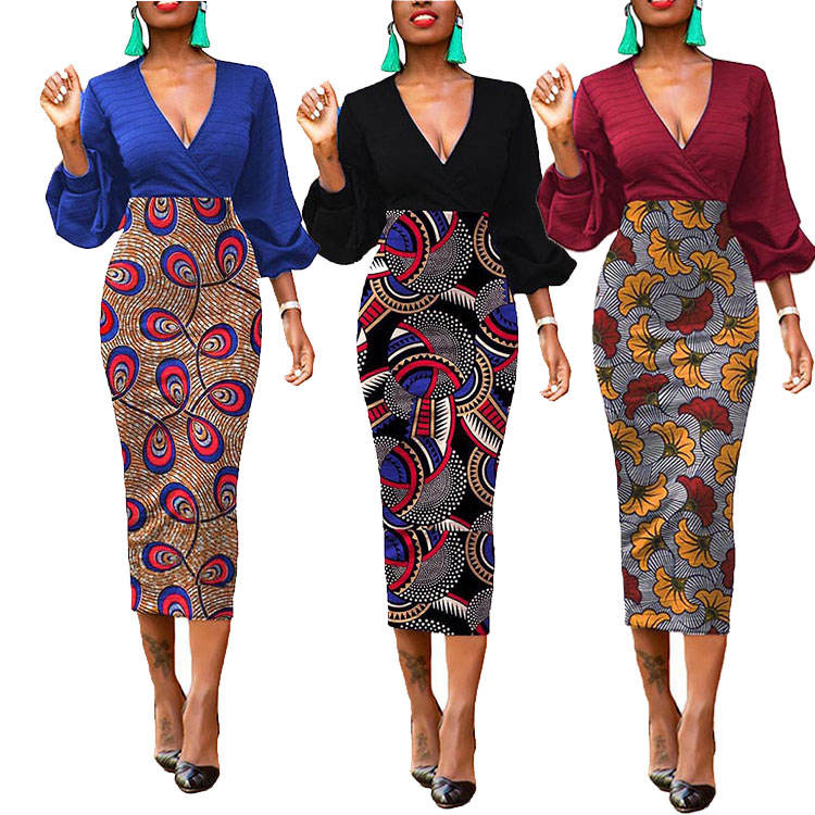 Vintage traditional african dresses and skirts