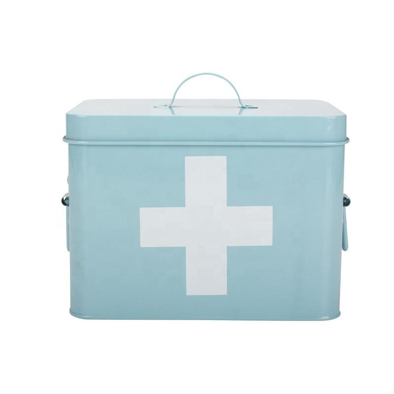 Daily Use China Tin Medicine Storage Box Metal Mecine Box First Aid Kit First Aid Box