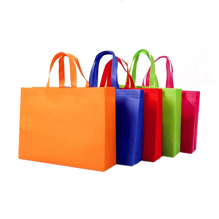 Ready to Ship Stock Promotional Colored Non Woven Tote Shopping Bag