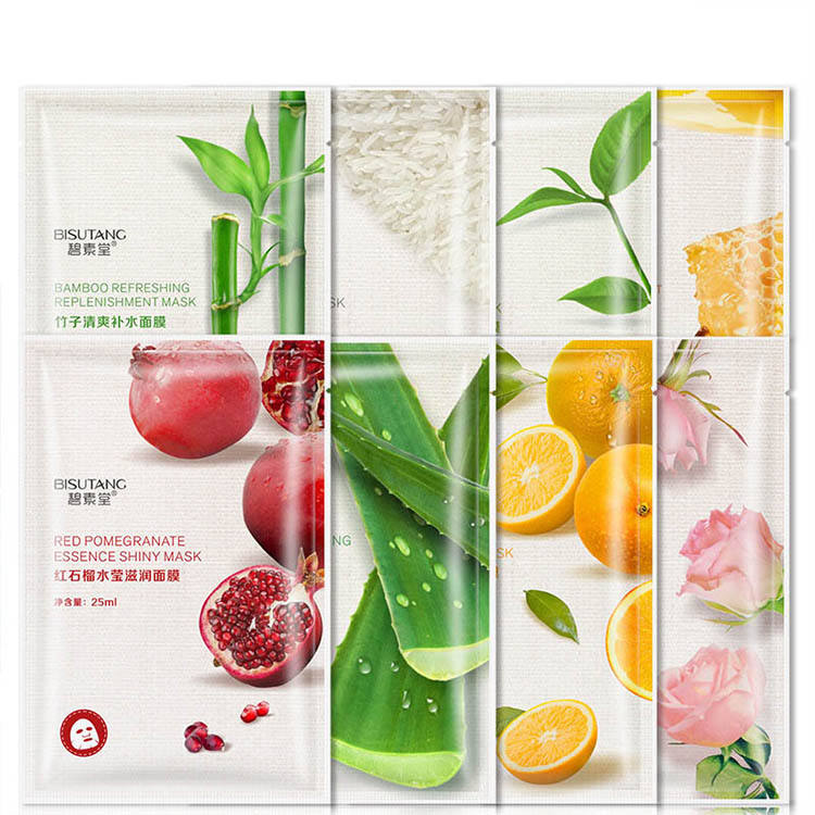 Fresh Orange Aloe Rice Pomegranate Bamboo Rose Green Tea Honey Moisturizing Water Korean Mask
