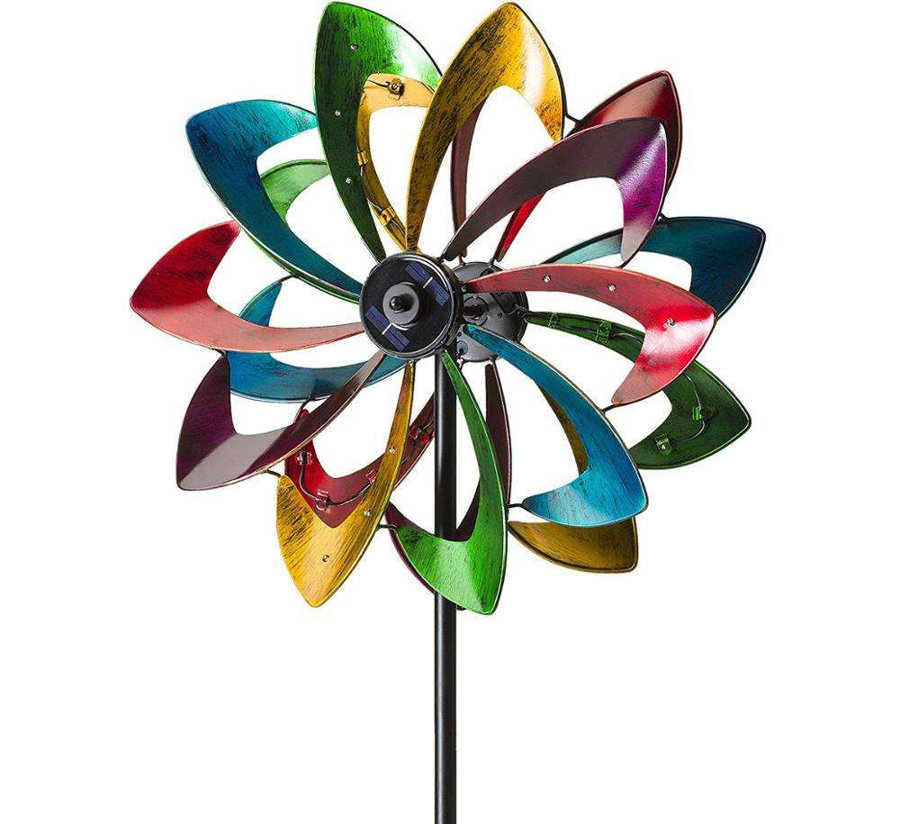 Wholesale Flower Garden Stake Trellis Metal Wind Spinner