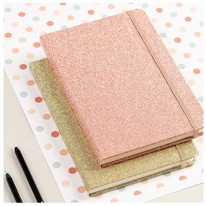 Custom 2021 Budget Organizer Glitter Journal Diary A5 Leather Hard Cover Note Book