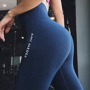 Hoge Waisted Workout Nylon Spandex Leggings Fitness Sport Vrouw Yoga Broek Vrouwen Activewear Gym Leggings Naadloze Gym Leggins