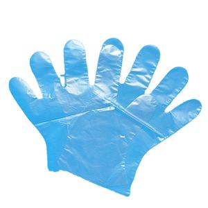 PE disposable inspection gloves powder free sanitary transparent working protective