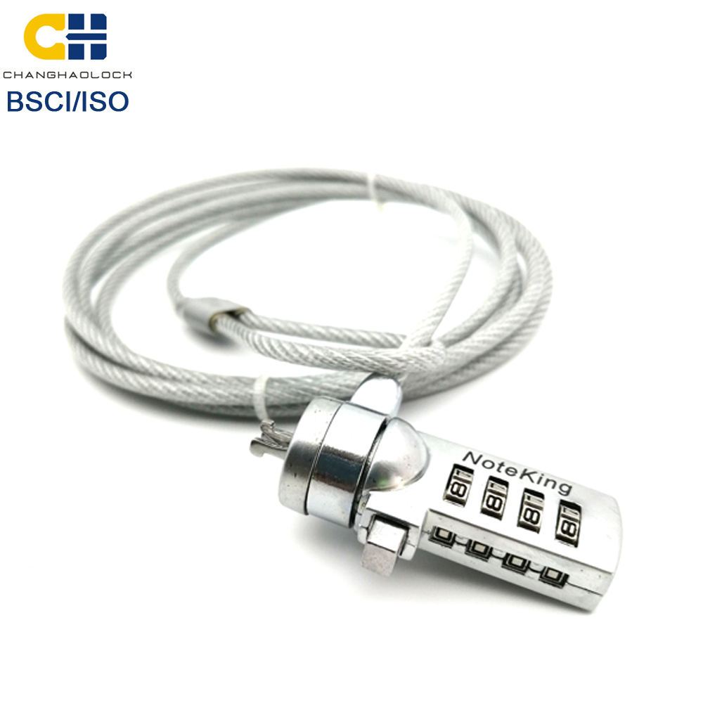 CH-902 Factory Wholesale 4 digits laptop combination cable lock