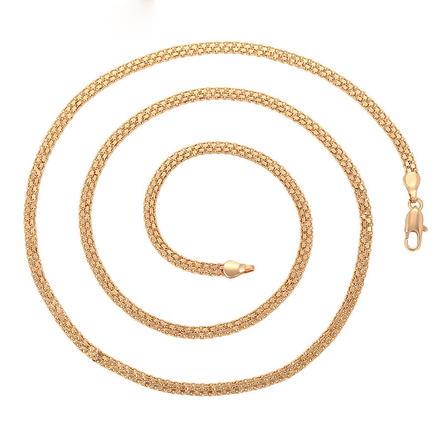 46164 xuping 2020 new long chain simple design 18k gold metal alloy necklace