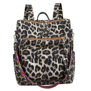 New Leather Leopard Trending Fashion Vintage Hailey Melea Convertible Backpack