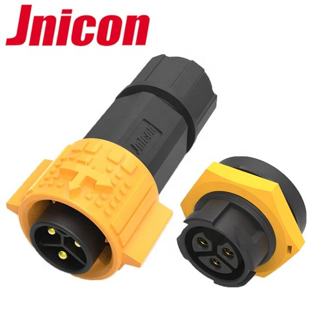 IP67 plastic 3 pin male female power connector 3 pin 20 A panel mount waterproof connector