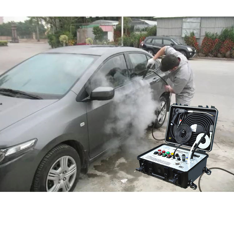 OEM Independent Circuit High Pressure Cold Hot Water Adjustable Dry&Wet 30S Rapid Steam Cleaner Car Washing Tools and Equipment